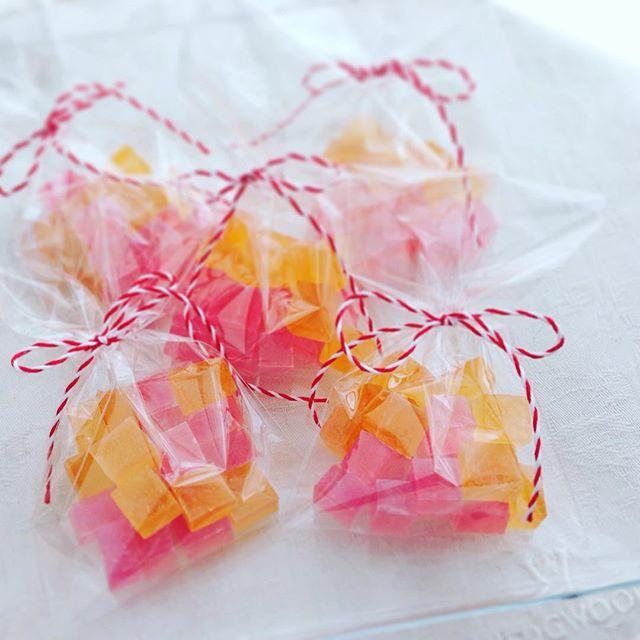 フルーツビネガーの琥珀糖