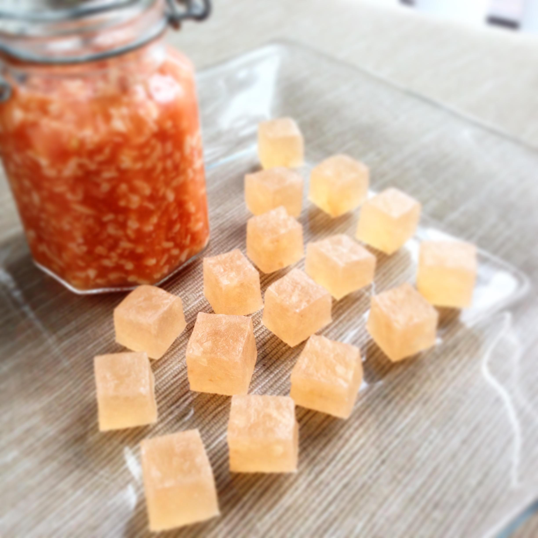 とまと麹の琥珀糖 Kohaku Jelly-Candy of Tomato kouji