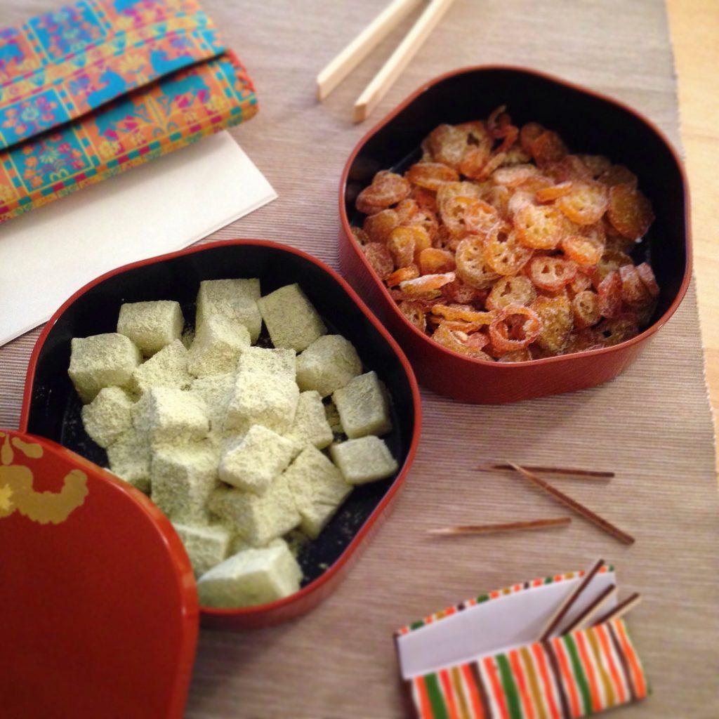 金柑 Kumquats うぐいす餅