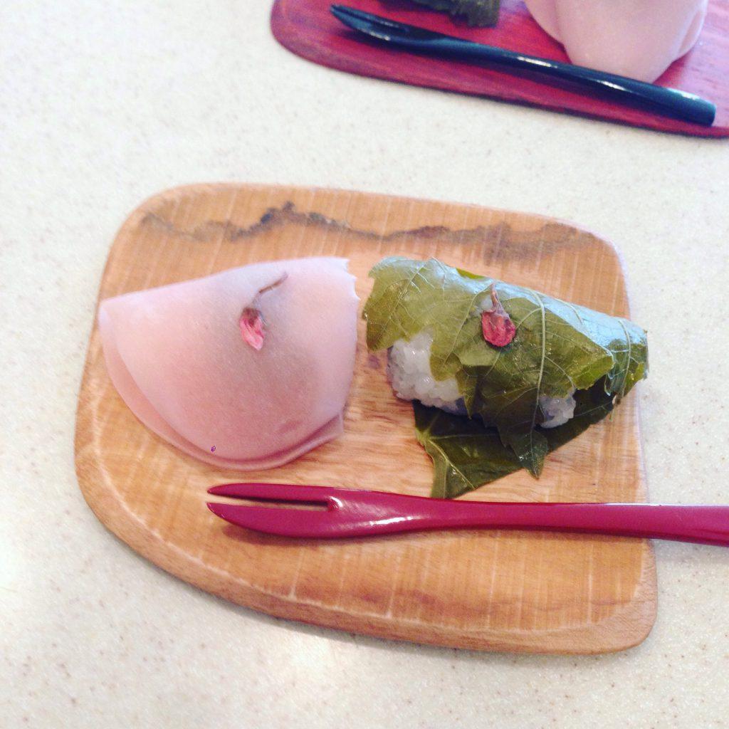 桜餅 Cherry blossom rice cake
