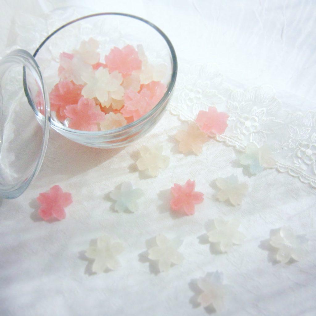 桜霞の琥珀糖