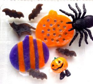 Kohaku jelly-candy of Black and White Halloween design 大人シックなハロウィンの琥珀糖