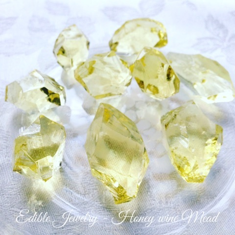 Birthstone of November, CITRINE Kohaku jelly-candy 11月の誕生石シトリンの琥珀糖