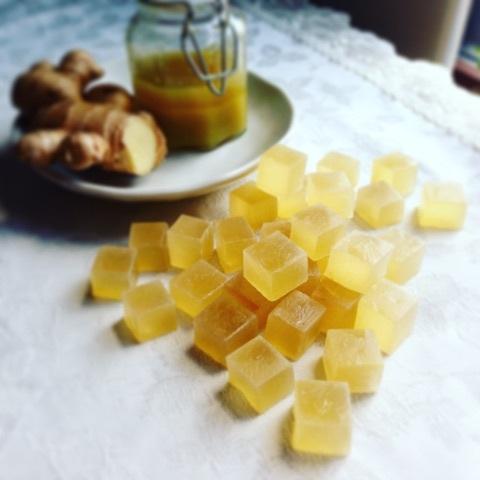 Ginger Syrup Kohaku jelly-candy 体ぽかぽかジンジャーシロップの琥珀糖レシピ