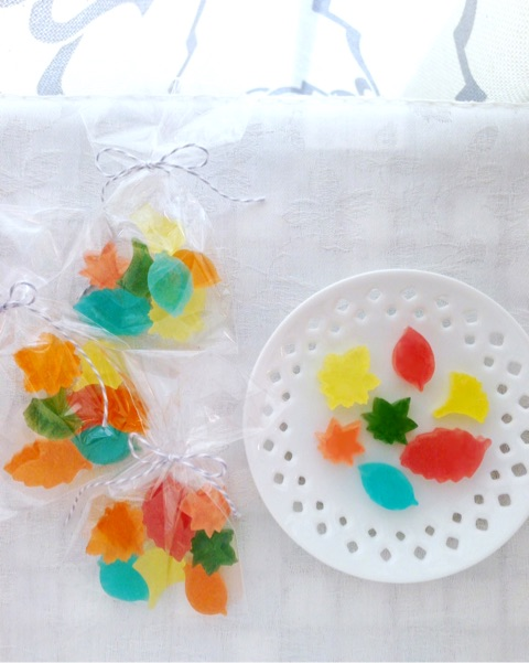Small pieces of Autumun design Kohaku jelly-candy 小さな秋の琥珀糖