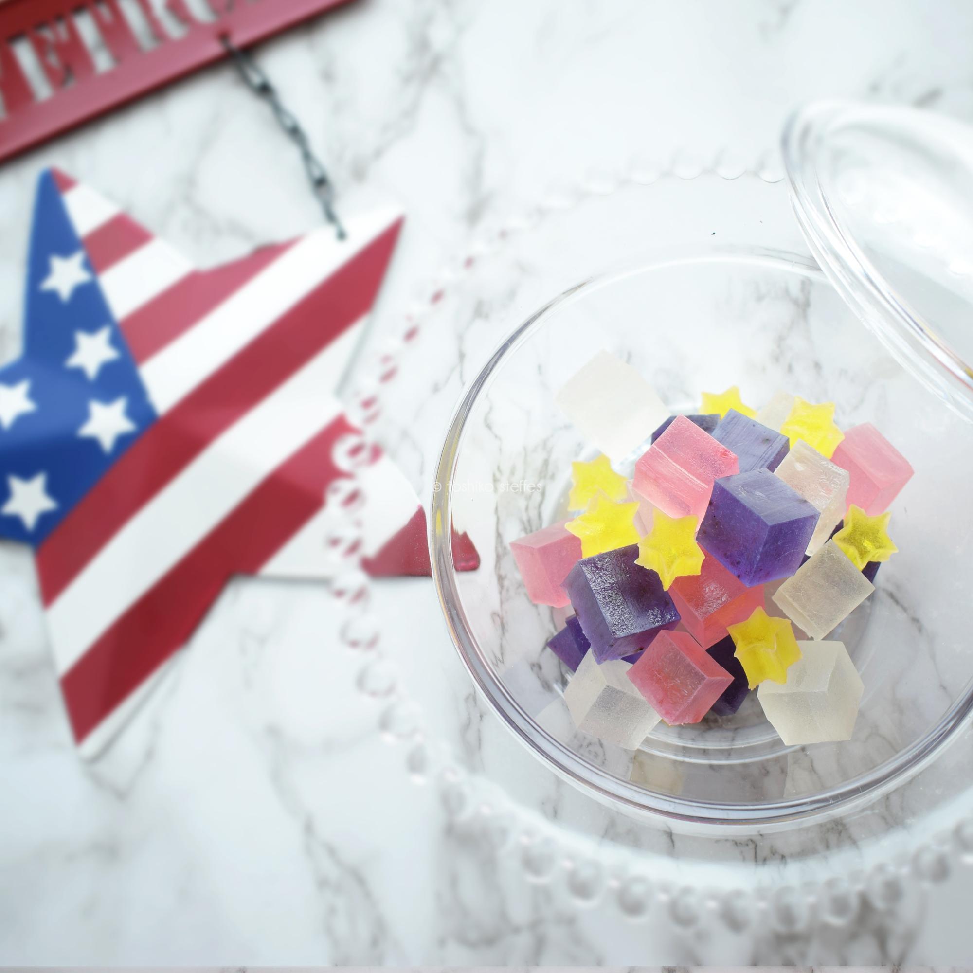 星条旗の琥珀糖