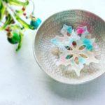 Kohaku jelly-candy of snow flake 雪の結晶の琥珀糖 琥珀糖 雪の結晶