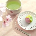 Nerikiri chkin set spring color 練り切りは茶巾セット 春